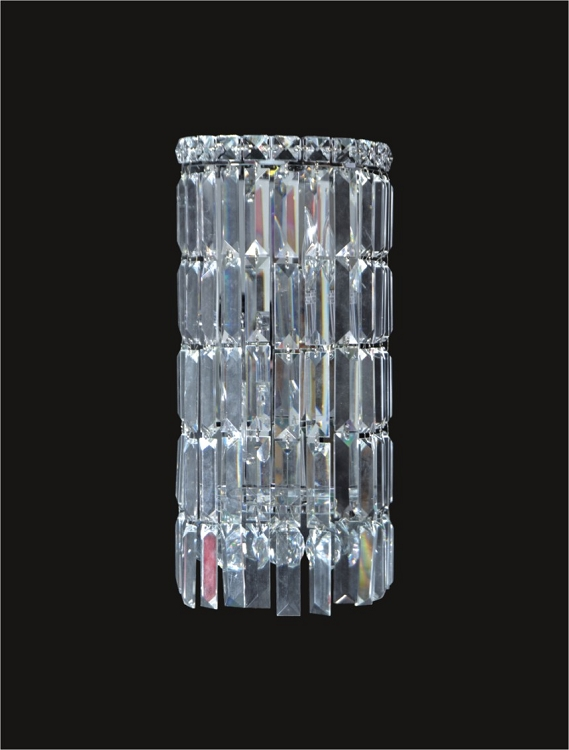 Ibiza Design 2 Light 16 Chrome Wall Sconce Bathroom Vanity Light Fixture With European Or