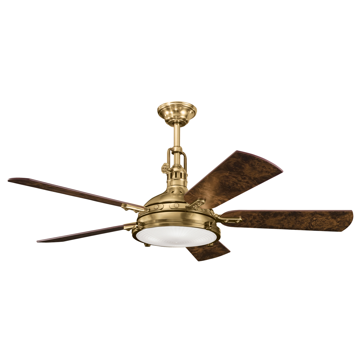 Hatteras Bay 56 Burnished Antique Brass Ceiling Fan With