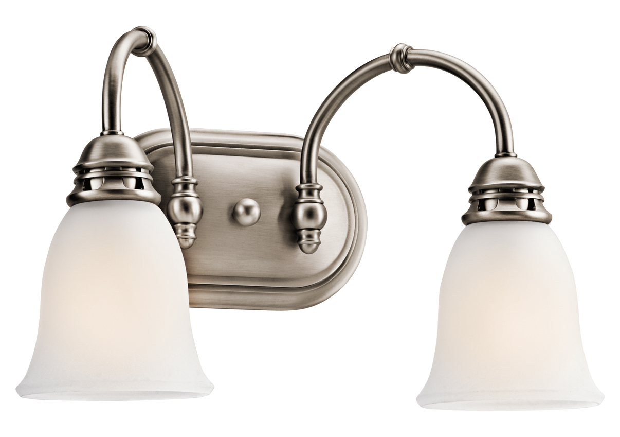Kichler Kichler 45065Ap Antique Pewter Durham 16 Wide 2 Bulb Bathroom L
