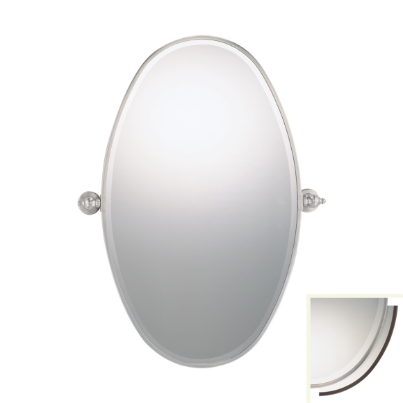 Fordyce collection 36 brushed nickel xl mirror 1432 84 for Mirror 84 x 36