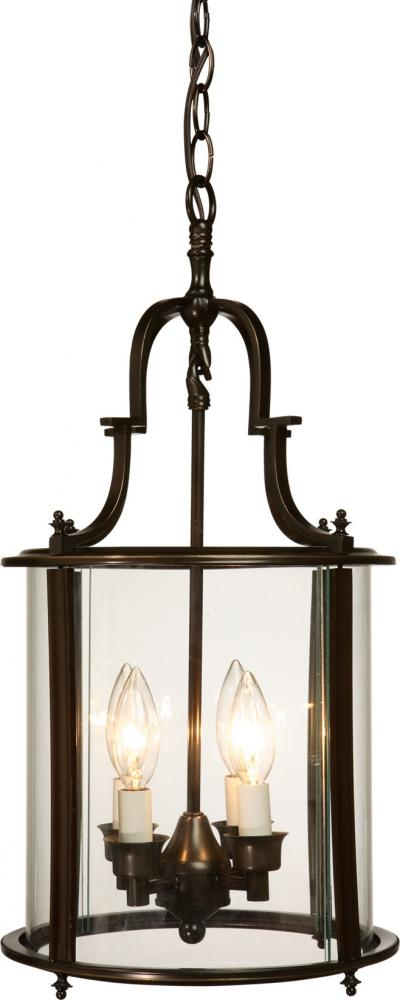 Art Glass Foyer Light : Artcraft four light oil rubbed bronze clear glass framed
