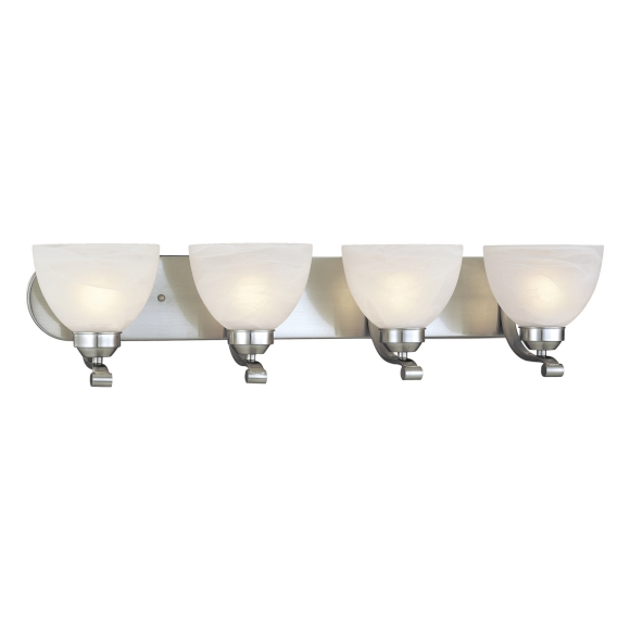 Paradox Collection 4 Light 30 Brushed Nickel Bath Vanity