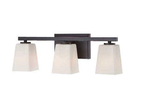 "City Square Collection 3-Light 20"" Lathan Bronze Bath"