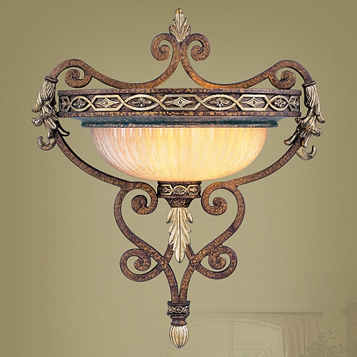 Wall Sconces Bronze Finish : Seville Collection Palacial Bronze Finish Wall Sconce- 8531-64