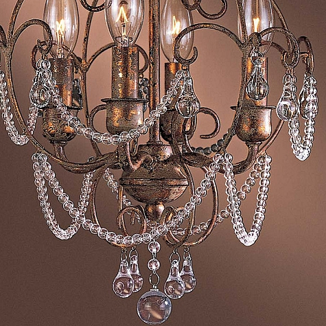 Regency gilded gold 4 light 18 mini chandelier with clear crystals 3129 479 - Sparkling small crystal chandelier designs for any interior room ...