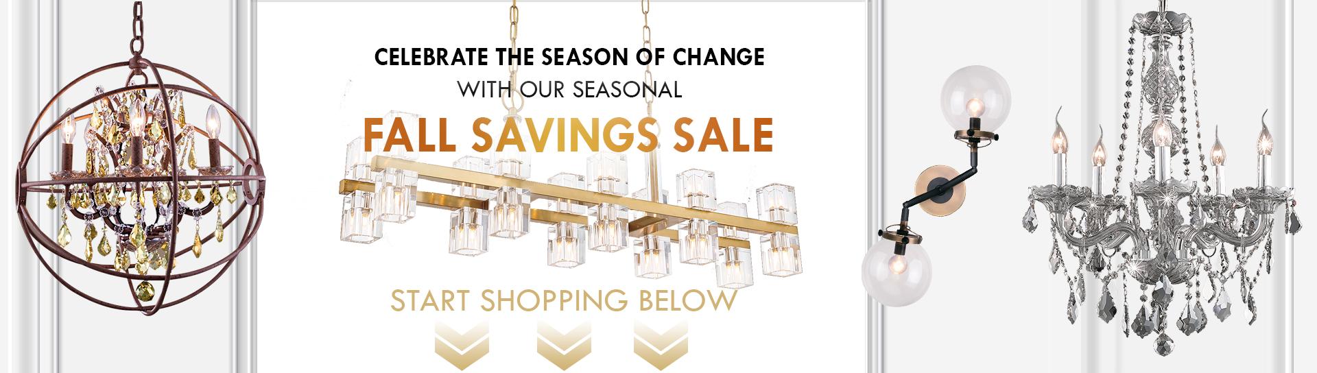 Fall Lighting & Home Decor Sale