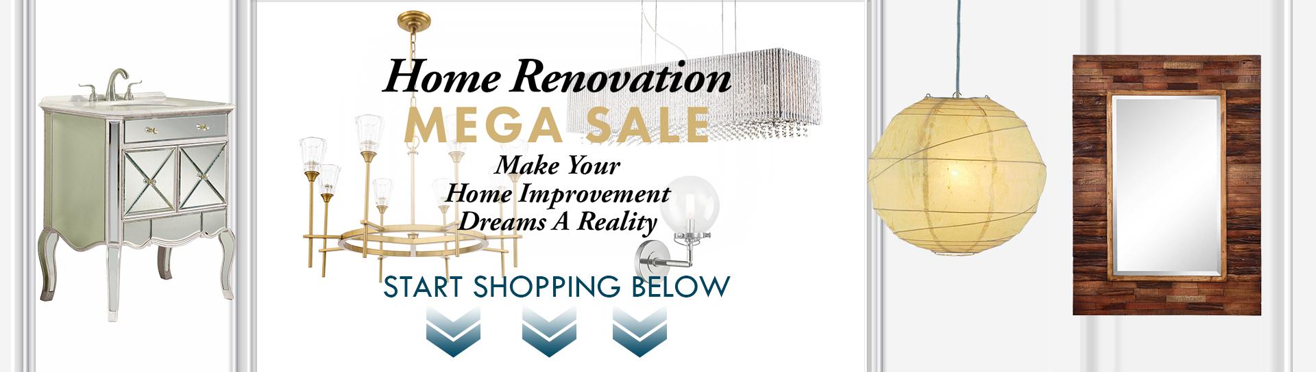 Lighting & Home Decor Renovation Sale