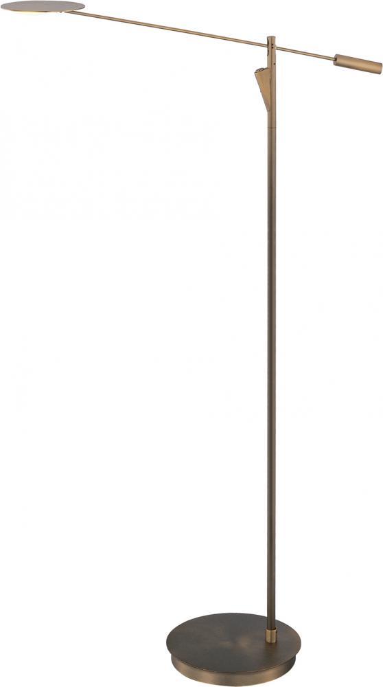 Eco task collection 1 light 58 bronze floor lamp e41009 bz for Task lighting floor lamp
