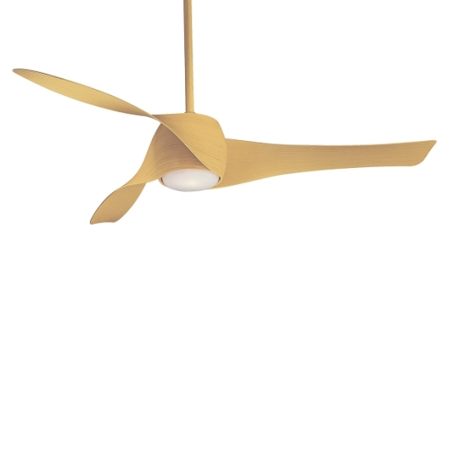 "Artemis 58"" Maple Ceiling Fan with Etched Opal Glass F803 MP"
