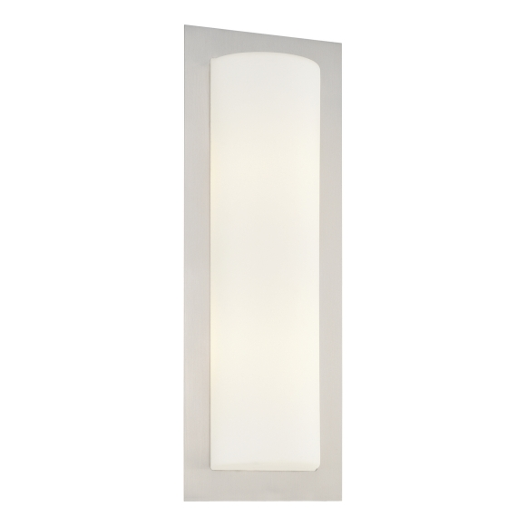 Wall Sconce Mounting Height Ada : Minka George Kovacs P563-144A Brushed Steel 2 Light 18.5in. Height ADA Compliant Flush Mount ...