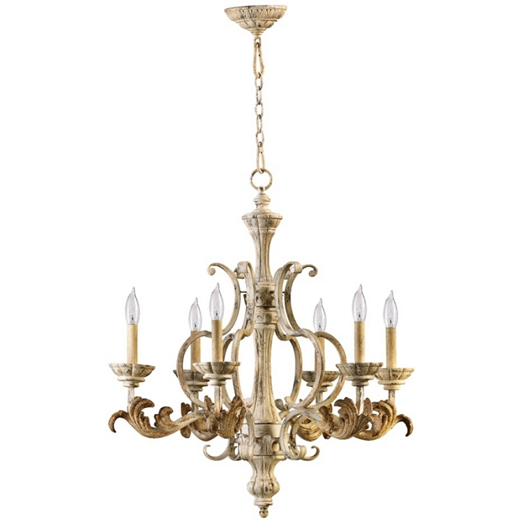 florence collection 6 light 30 persian white chandelier