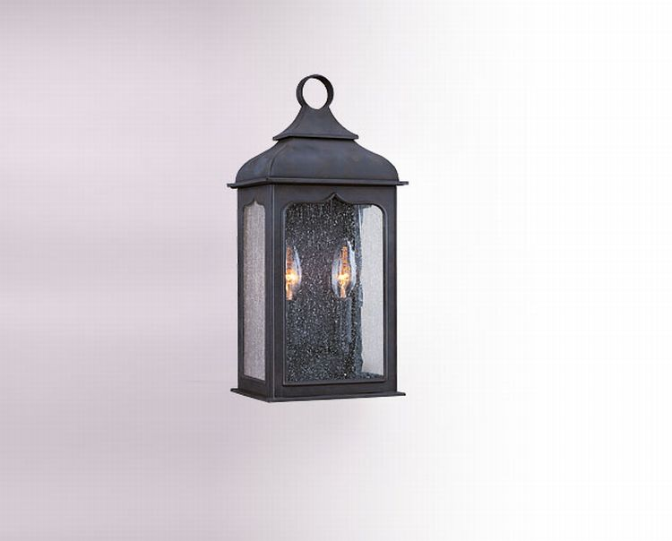 Henry street collection 2 light 18 colonial iron outdoor for Outdoor colonial lighting
