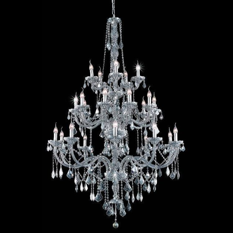Grey Chandelier Wall Lights : Verona Collection 25-Light 43