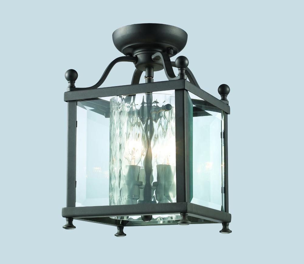 Foyer Semi Flush Mount Lighting : Three light bronze foyer hall semi flush mount z lite