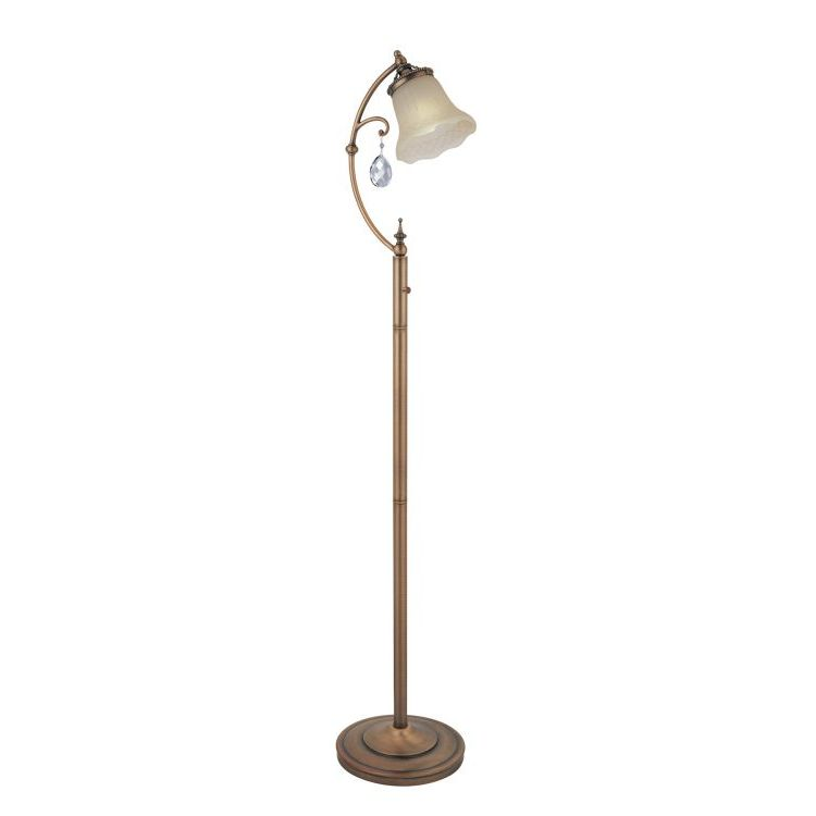 Darcy collection 1 light 60quot brushed copper floor lamp for Brushed copper floor lamp