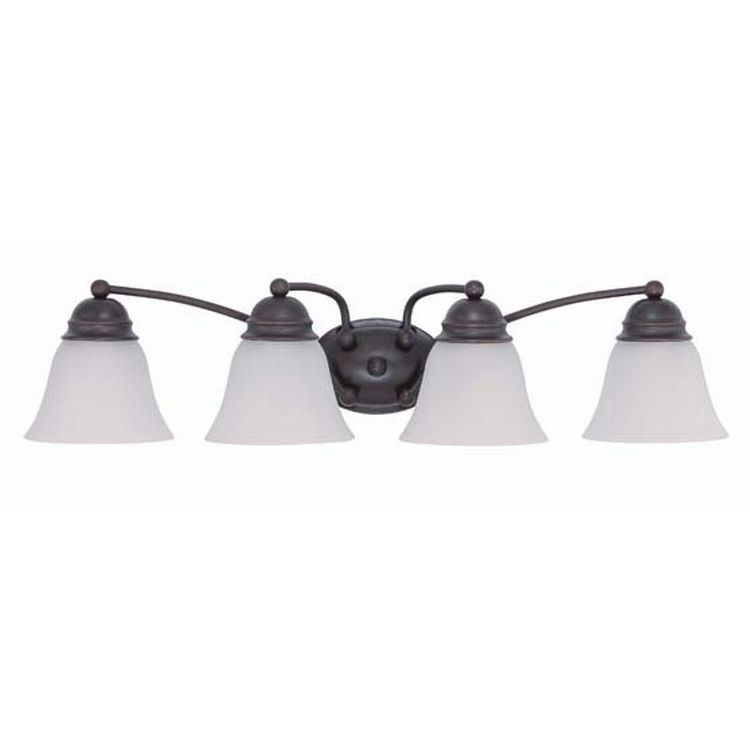Empire Collection 4 Light 6 Mahogany Bronze Vanity With Champagne Washed Linen Glass 60 3358